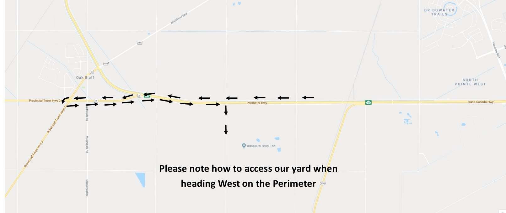 Access From Perimeter Heading West